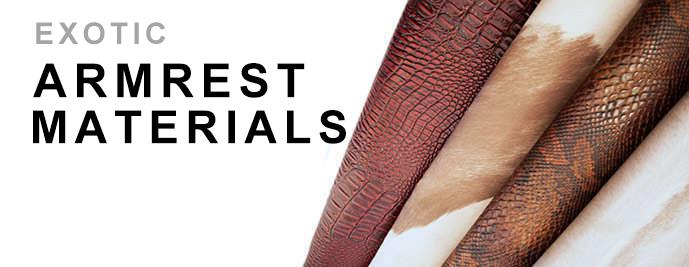 Exotic Armrest Materials