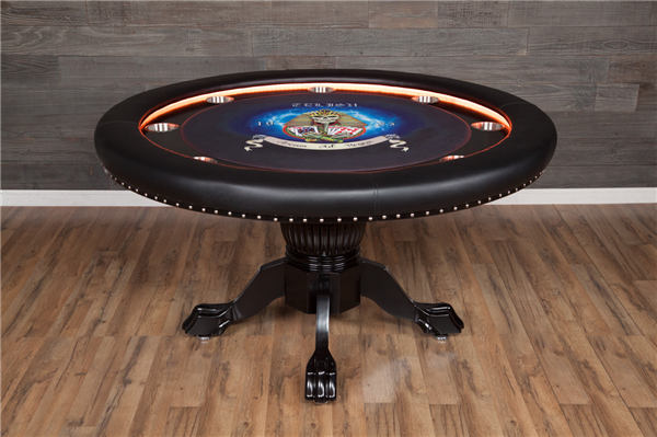 round shaped poker table