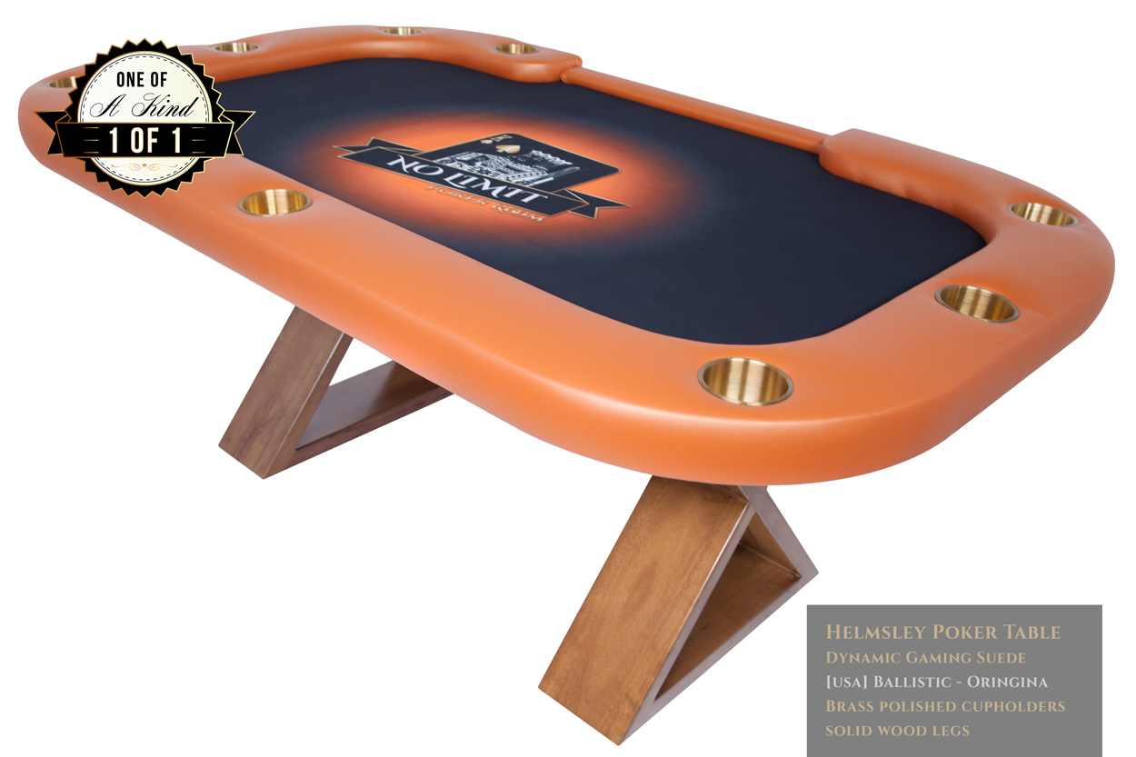 """King Me"" iShowroom Custom Helmsley Poker Game Table w/ Dining Top (1)"