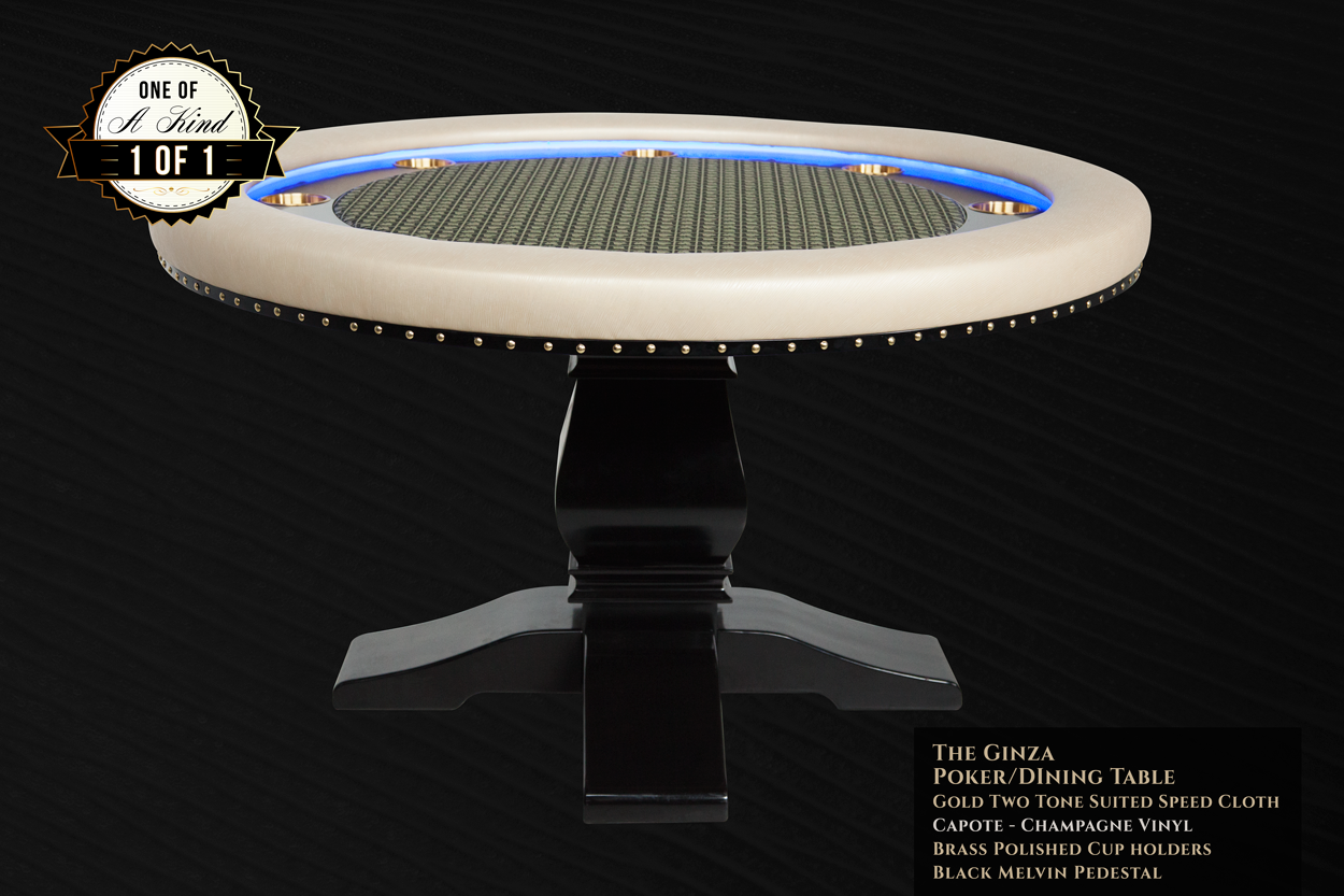 """""""Champagne Papi"""" iShowroom Custom Ginza LED Poker Game Table (1)"""