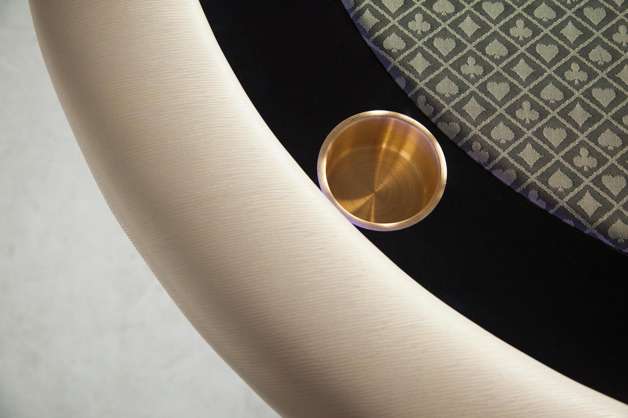 """""""Champagne Papi"""" iShowroom Custom Ginza LED Poker Game Table (2)"""