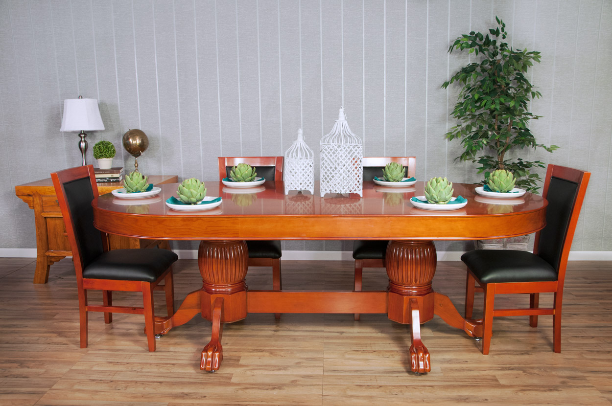 The Rockwell Poker Table with Mahogany Racetrack Thunmbnail