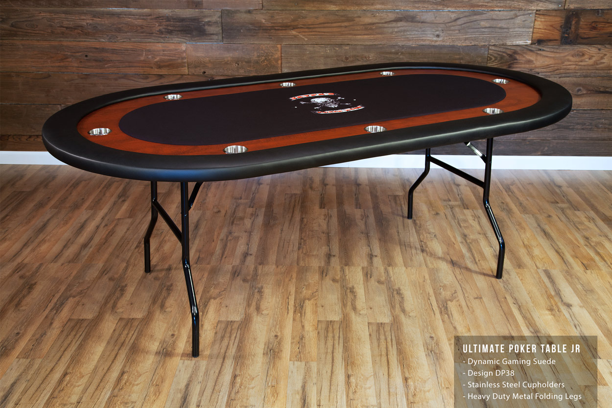 The Ultimate Poker Table Jr with mahogany racetrack Thunmbnail