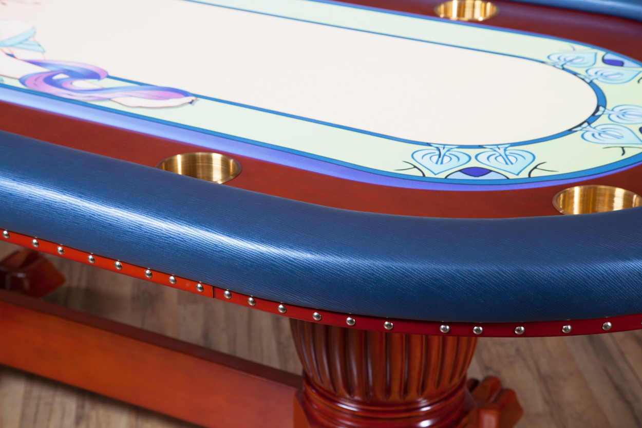 """Casino De Paris"" iShowroom Custom Rockwell Poker Game Table W/ ""Casino De Paris"" 500 Pc. Deluxe Package (3)"