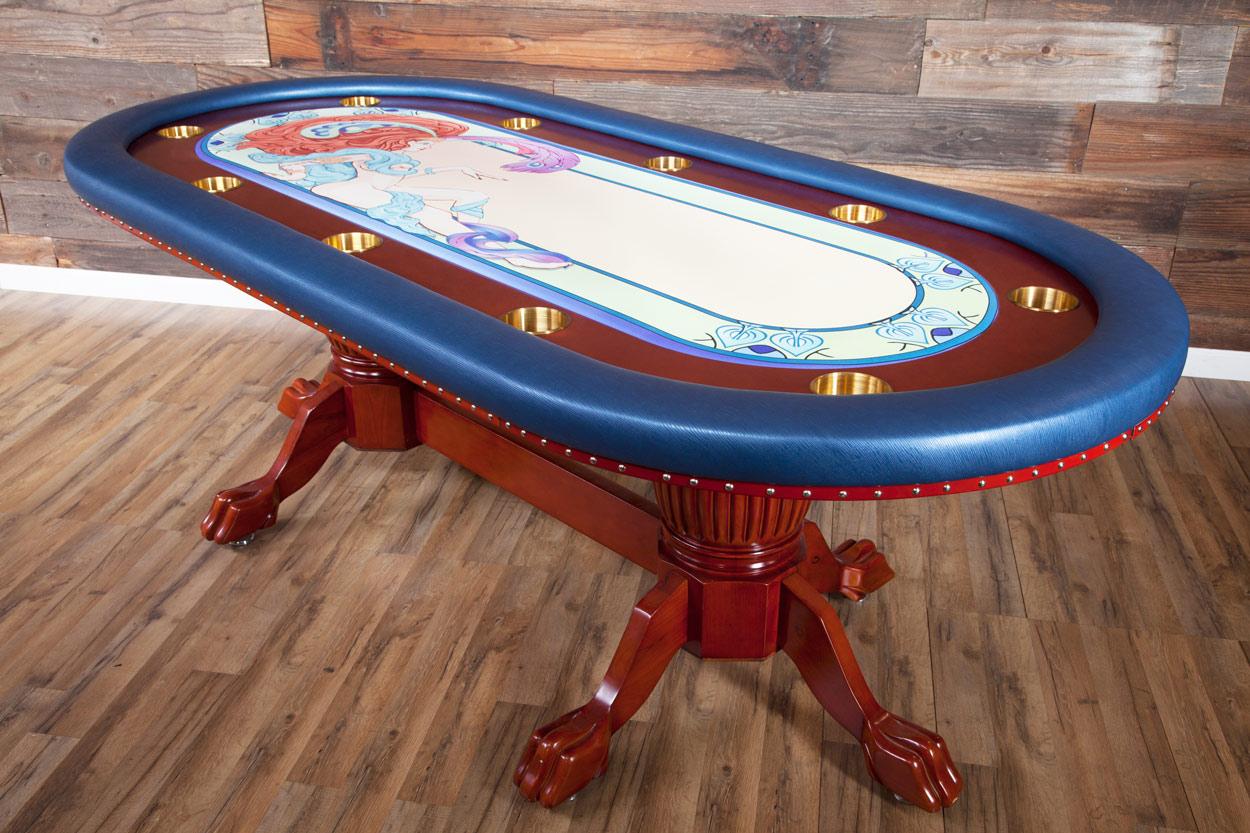 """Casino De Paris"" iShowroom Custom Rockwell Poker Game Table W/ ""Casino De Paris"" 500 Pc. Deluxe Package (2)"