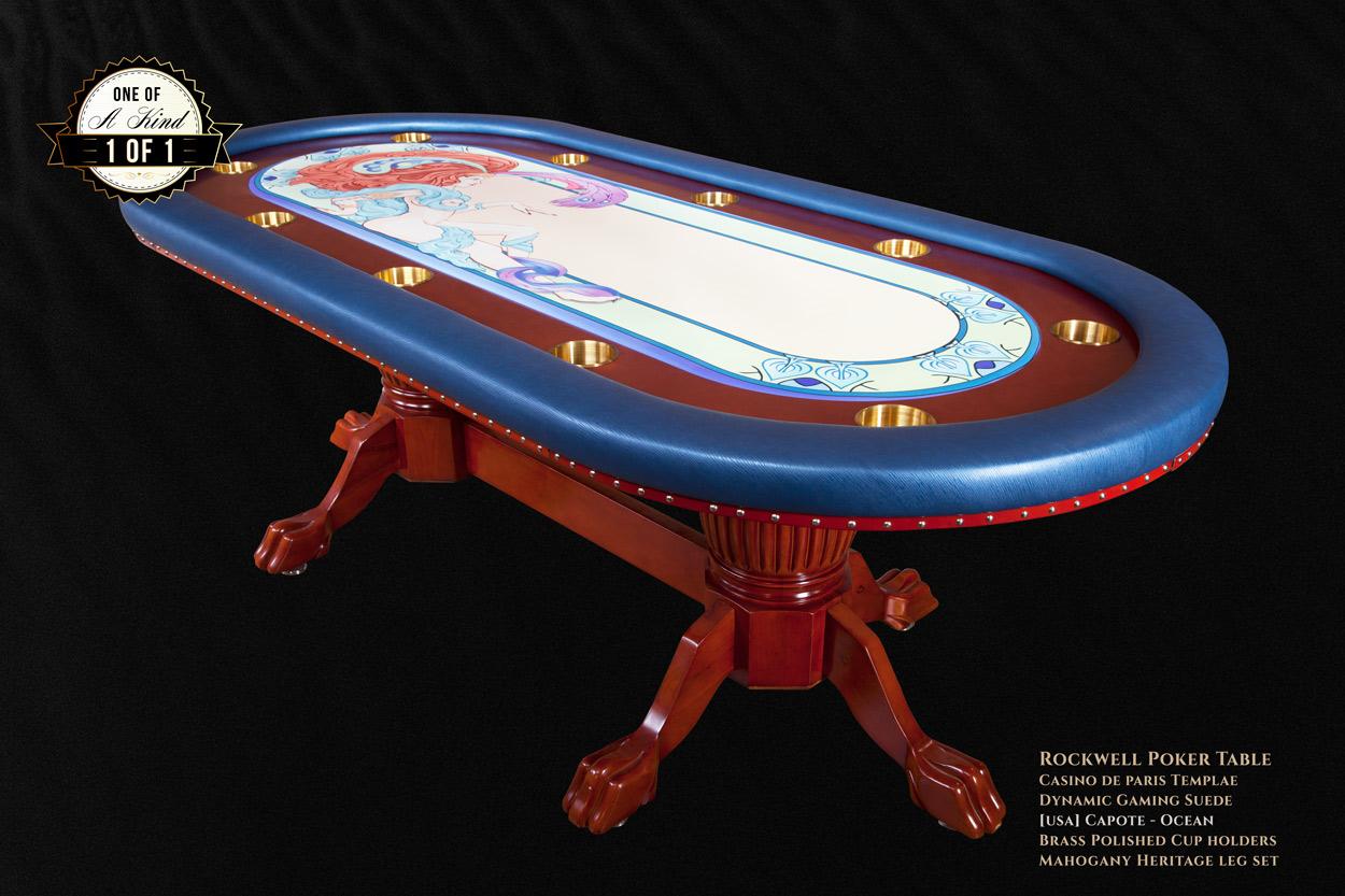 """Casino De Paris"" iShowroom Custom Rockwell Poker Game Table W/ ""Casino De Paris"" 500 Pc. Deluxe Package (1)"