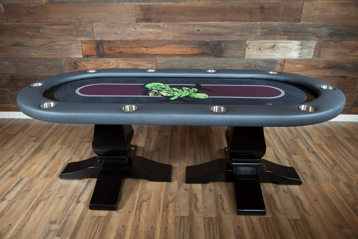 """The Undead"" iShowroom Custom Elite Poker Game Table W/ ""No Brainer"" 500 Pc. Chip Set (2)"