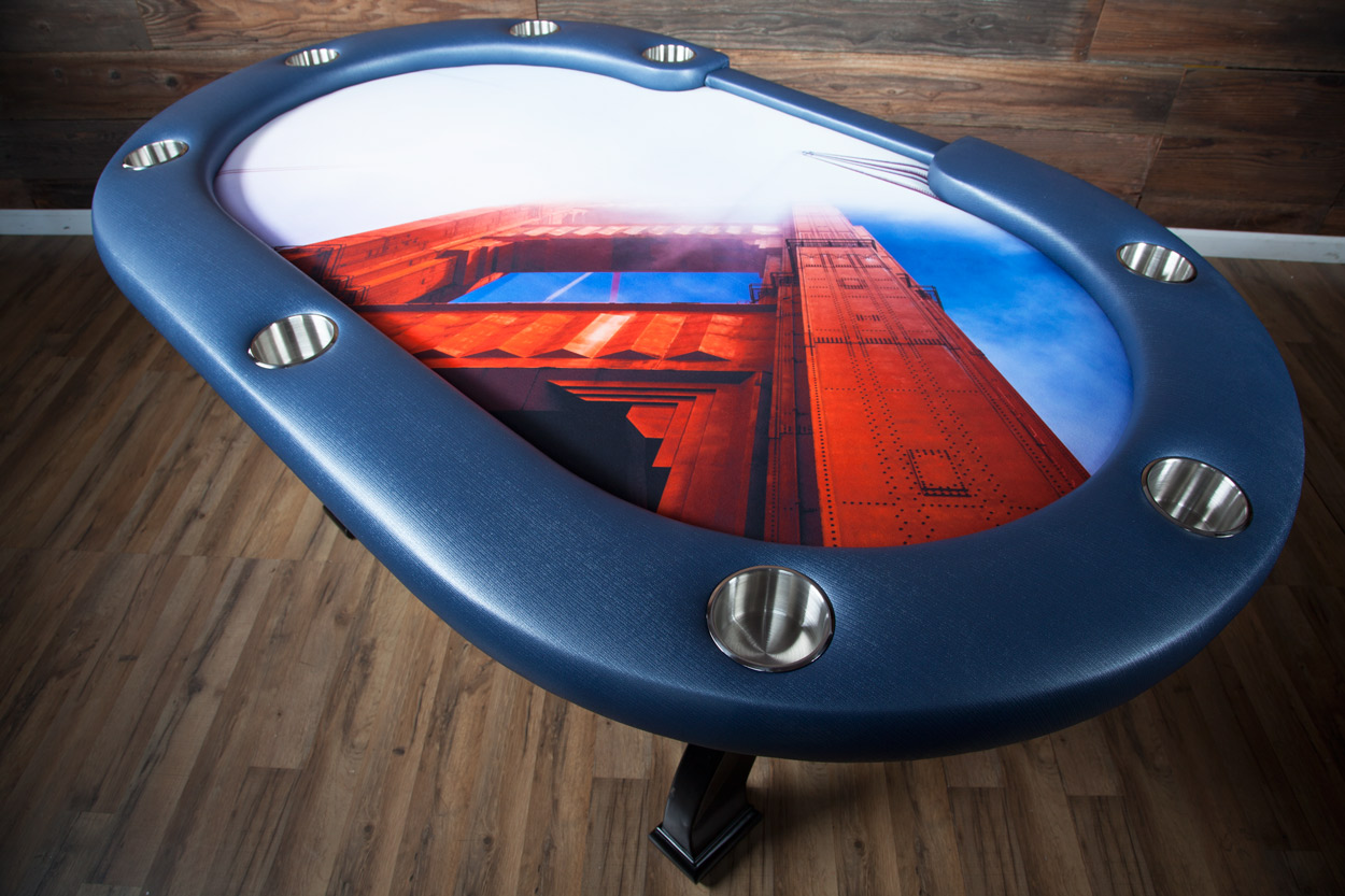"BBO + The SF Gent ""The San Francisco Treat"" iShowroom Custom X2 Mini Poker Game Table (3)"