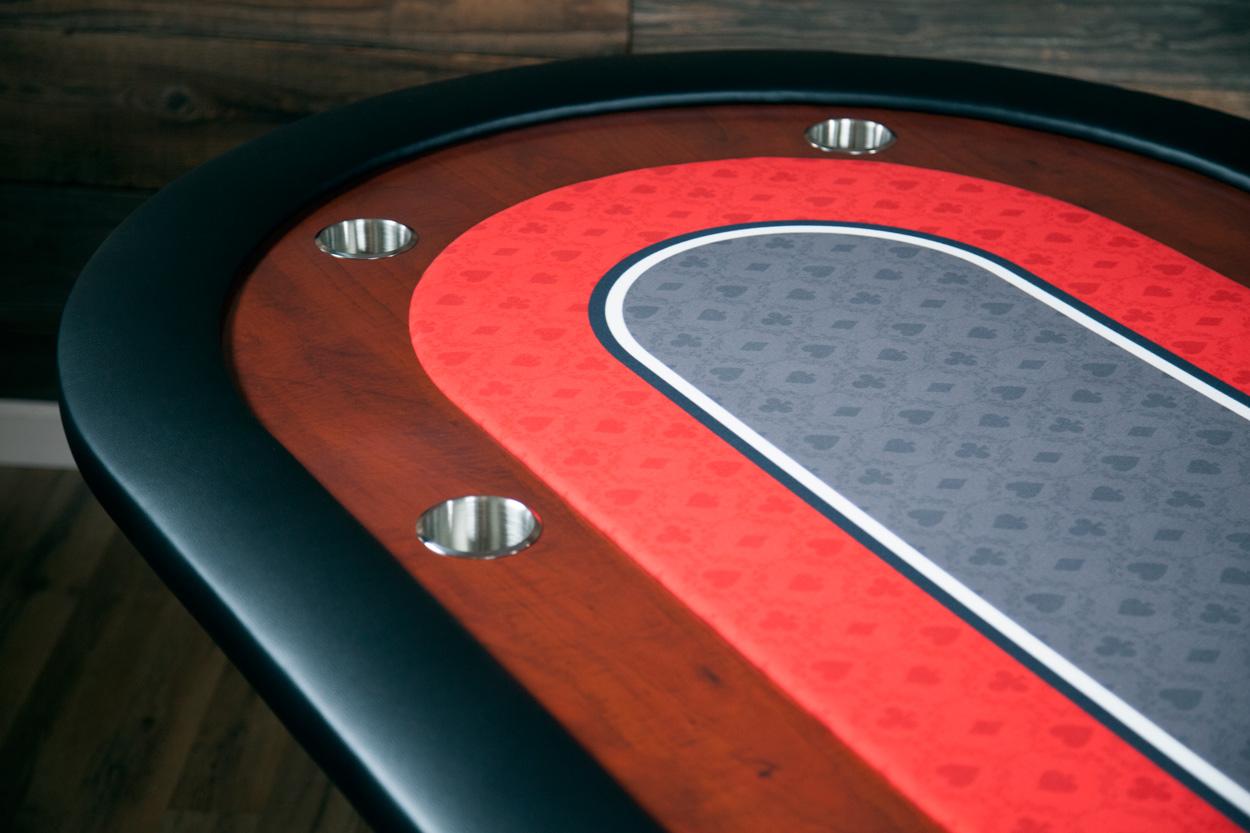 """Big Red"" iShowroom Custom Ultimate Poker Table  (4)"