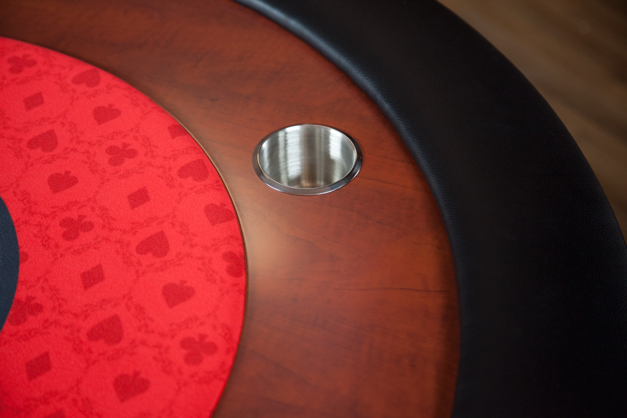 """Big Red"" iShowroom Custom Ultimate Poker Table  (3)"