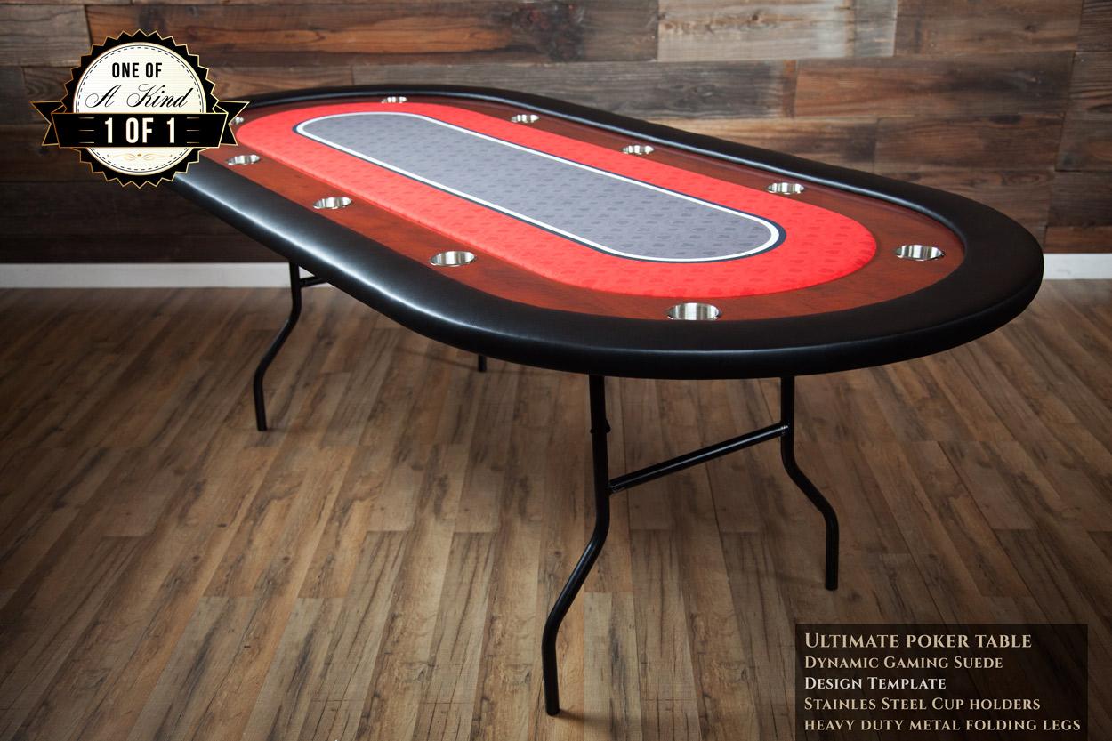 """Big Red"" iShowroom Custom Ultimate Poker Table"