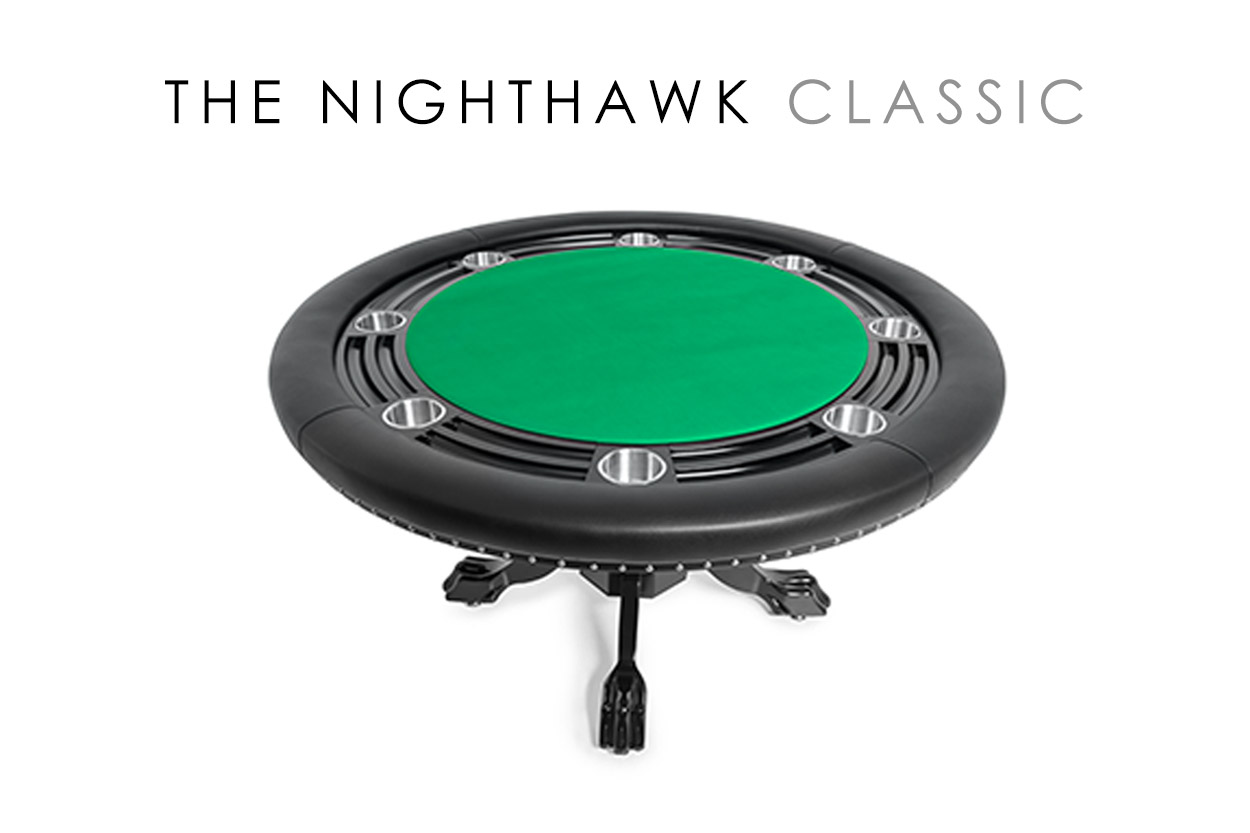 The Nighthawk Poker Table with Black Chip Holder