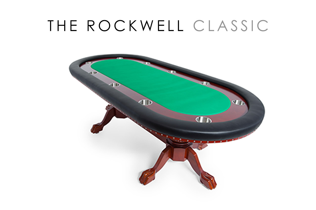 The Rockwell Poker Table with Mahogany Racetrack