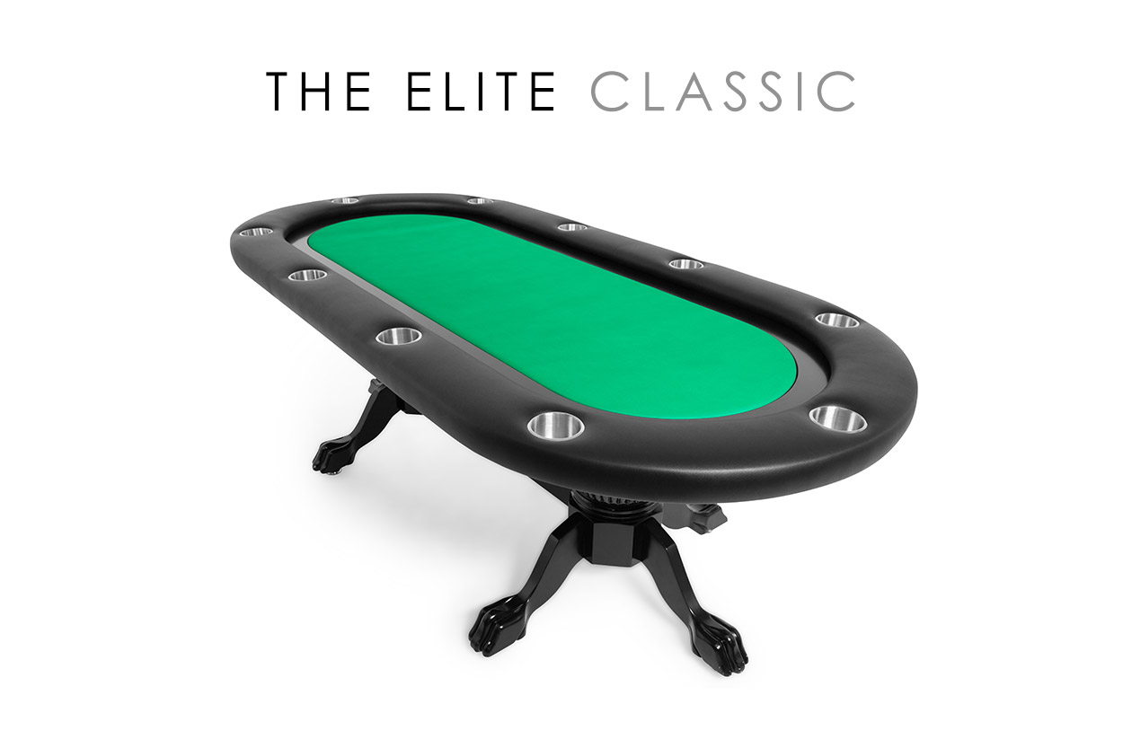 The Elite Poker Table with Black Racetrack