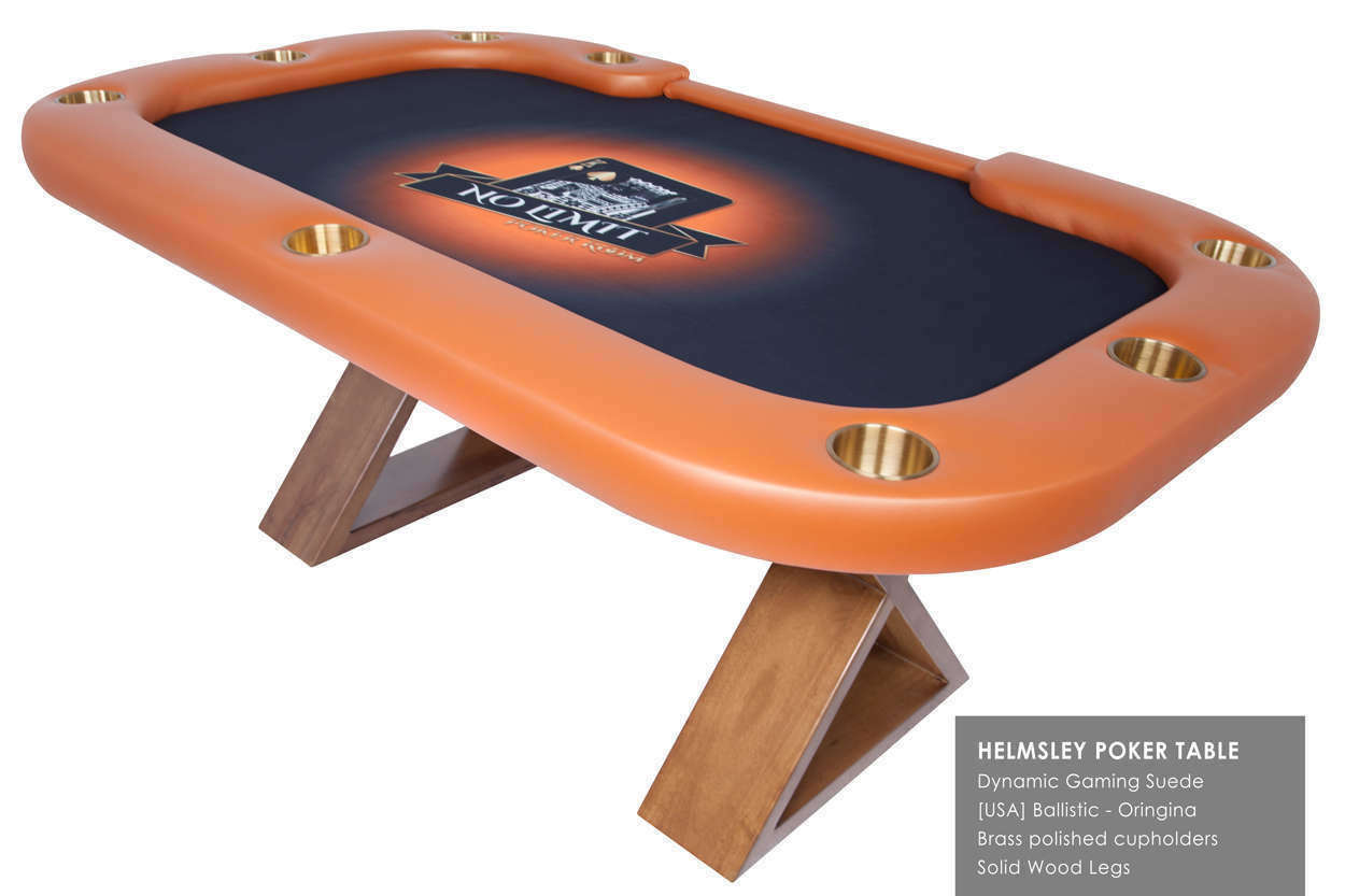 The Helmsley Poker Table with dealer cutout Thunmbnail