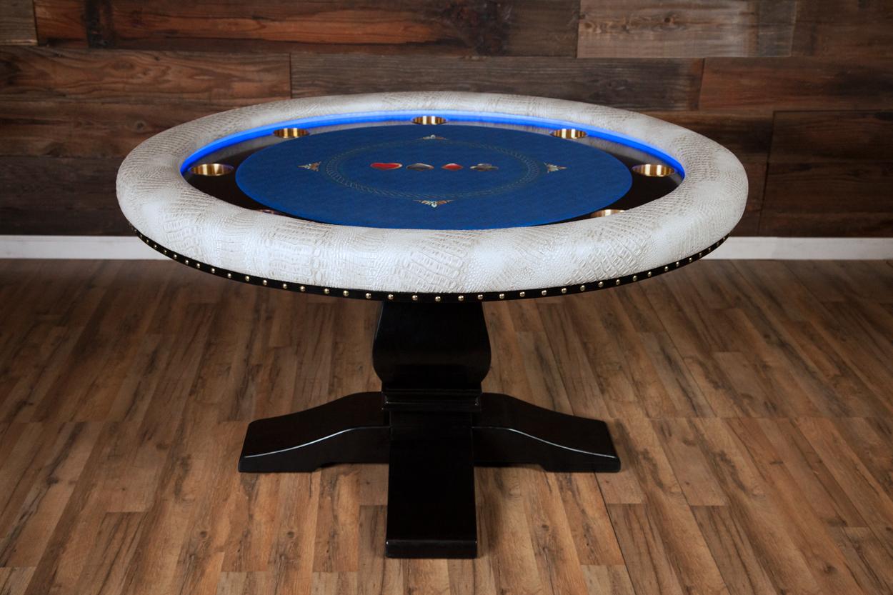 """Chips Ahoy!"" iShowroom Custom Ginza LED Poker Game Table (1)"
