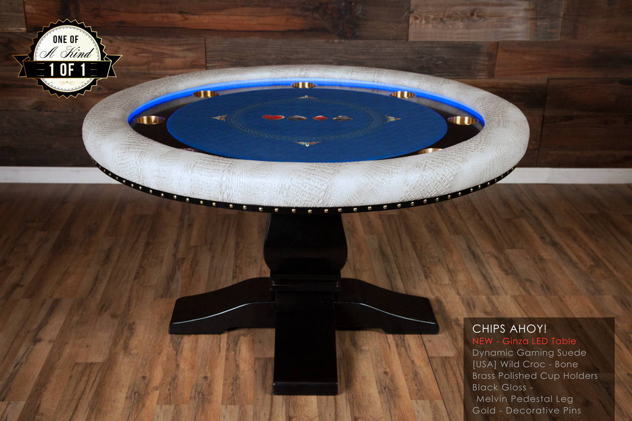 """Chips Ahoy!"" iShowroom Custom Ginza LED Poker Game Table"