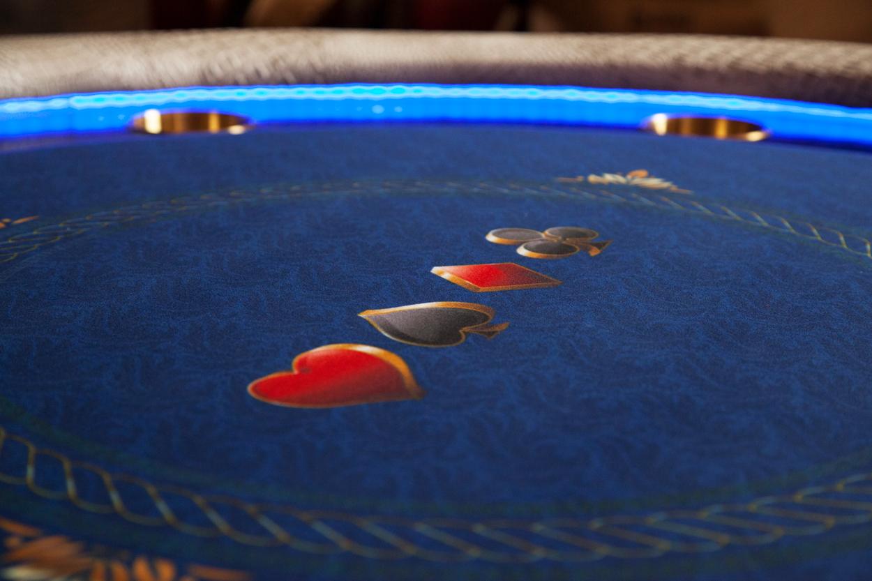"""Chips Ahoy!"" iShowroom Custom Ginza LED Poker Game Table (4)"