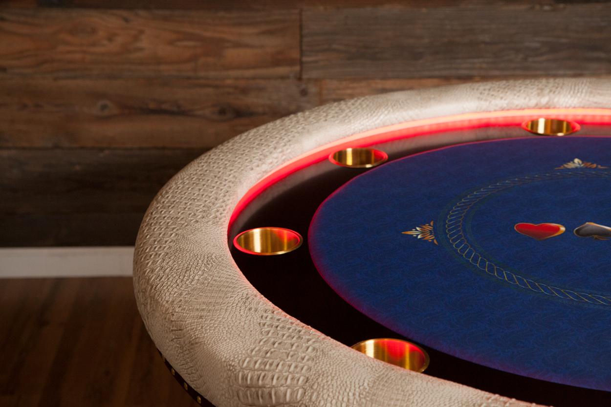 """Chips Ahoy!"" iShowroom Custom Ginza LED Poker Game Table (6)"