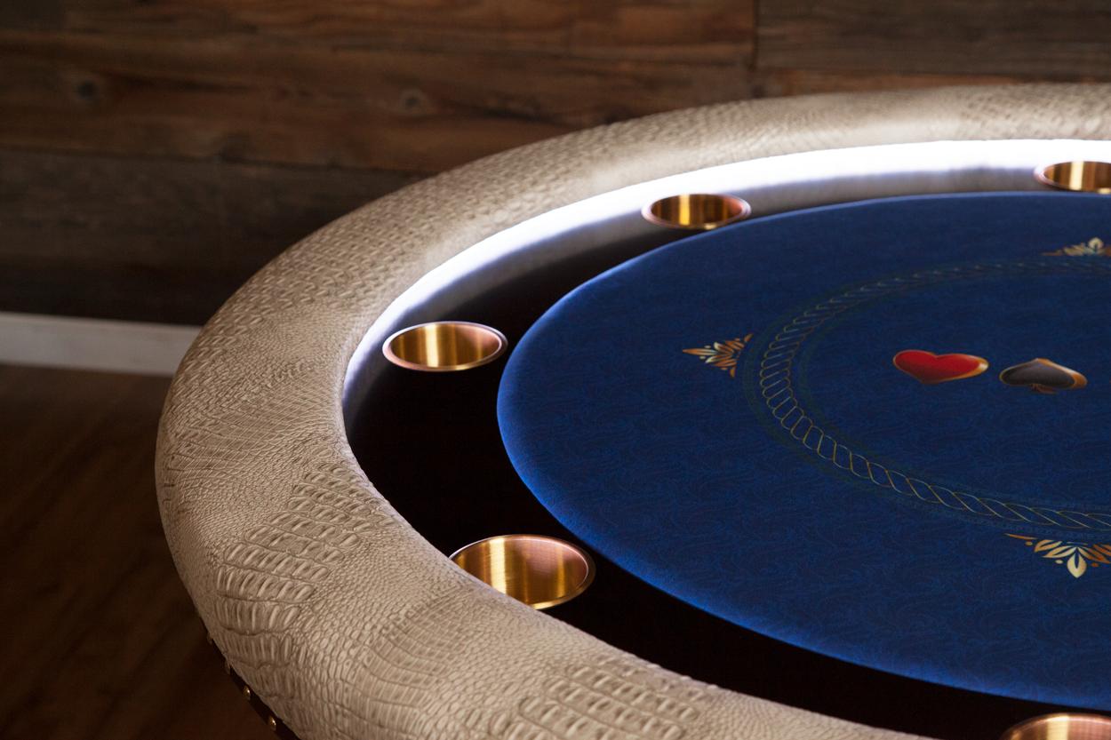 """Chips Ahoy!"" iShowroom Custom Ginza LED Poker Game Table (7)"