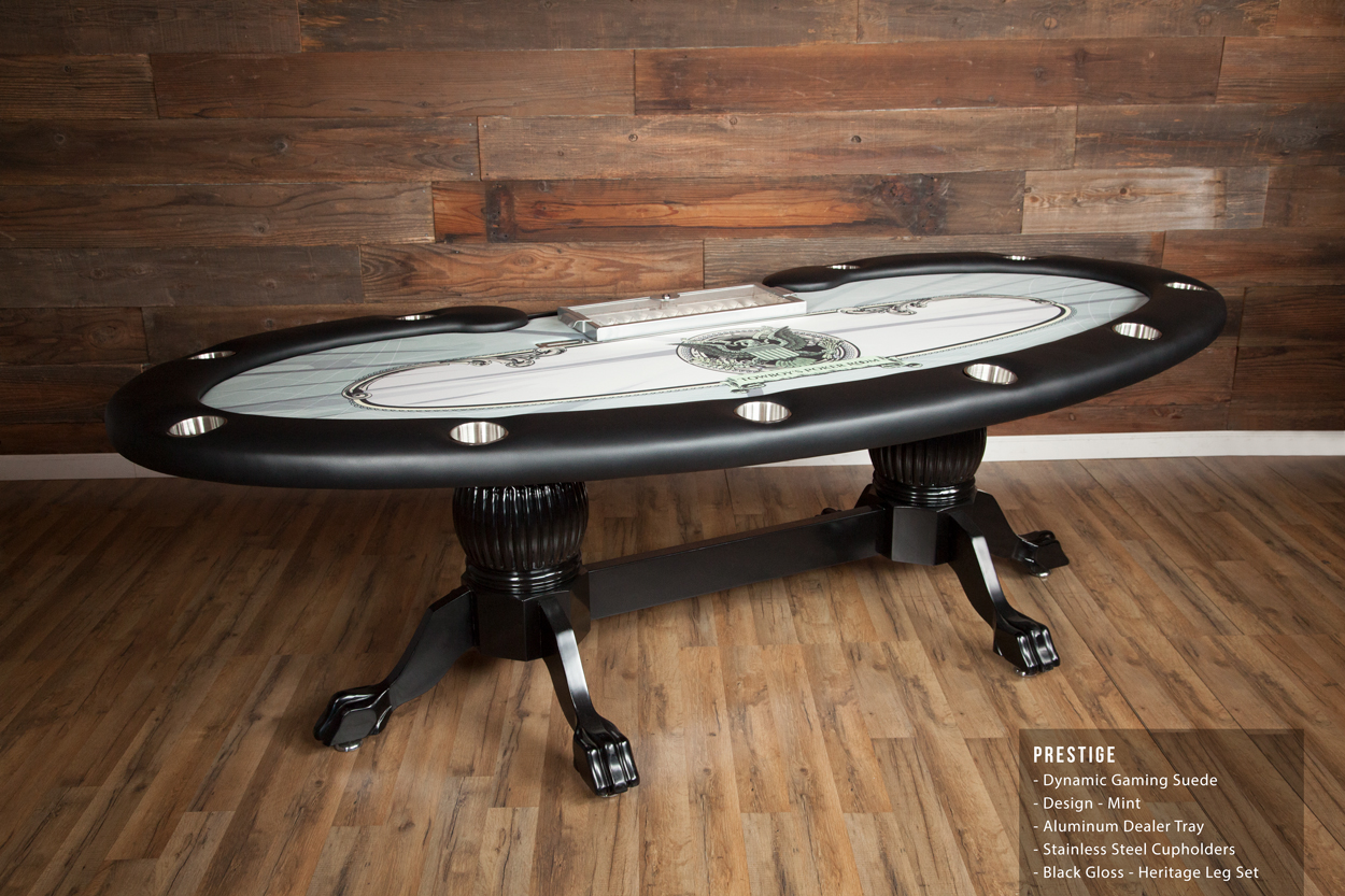 Prestige Folding Leg Poker Table Thunmbnail
