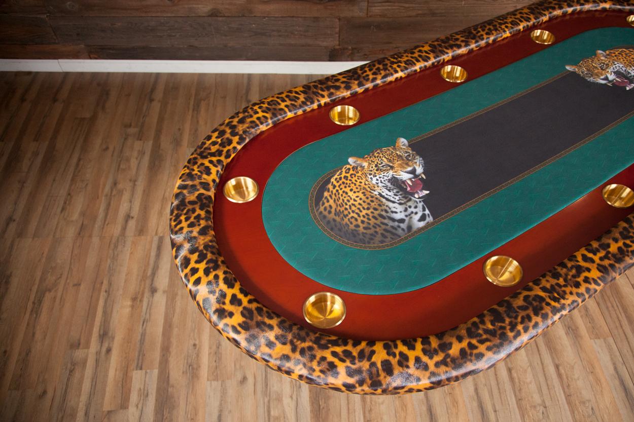 """""""Jungle Boogie"""" iShowroom Custom Rockwell Poker Game Table (6)"""