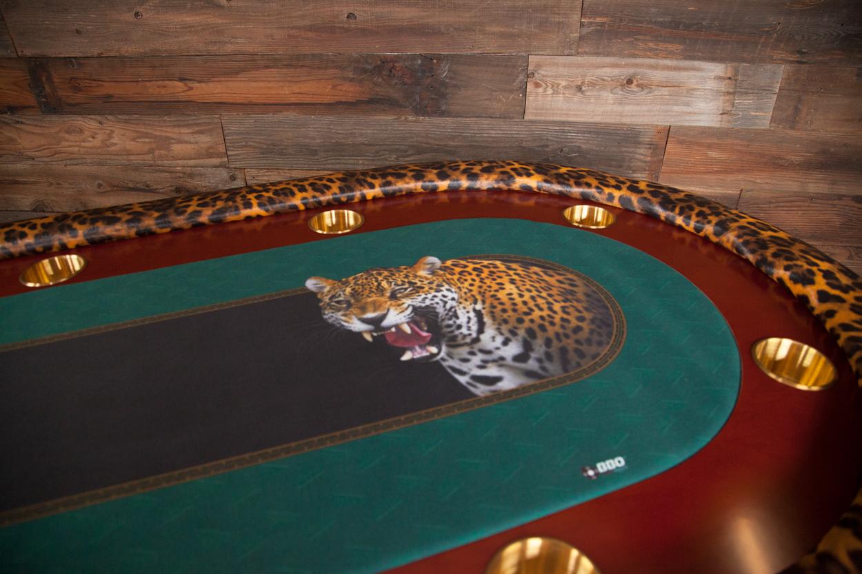 """""""Jungle Boogie"""" iShowroom Custom Rockwell Poker Game Table (5)"""