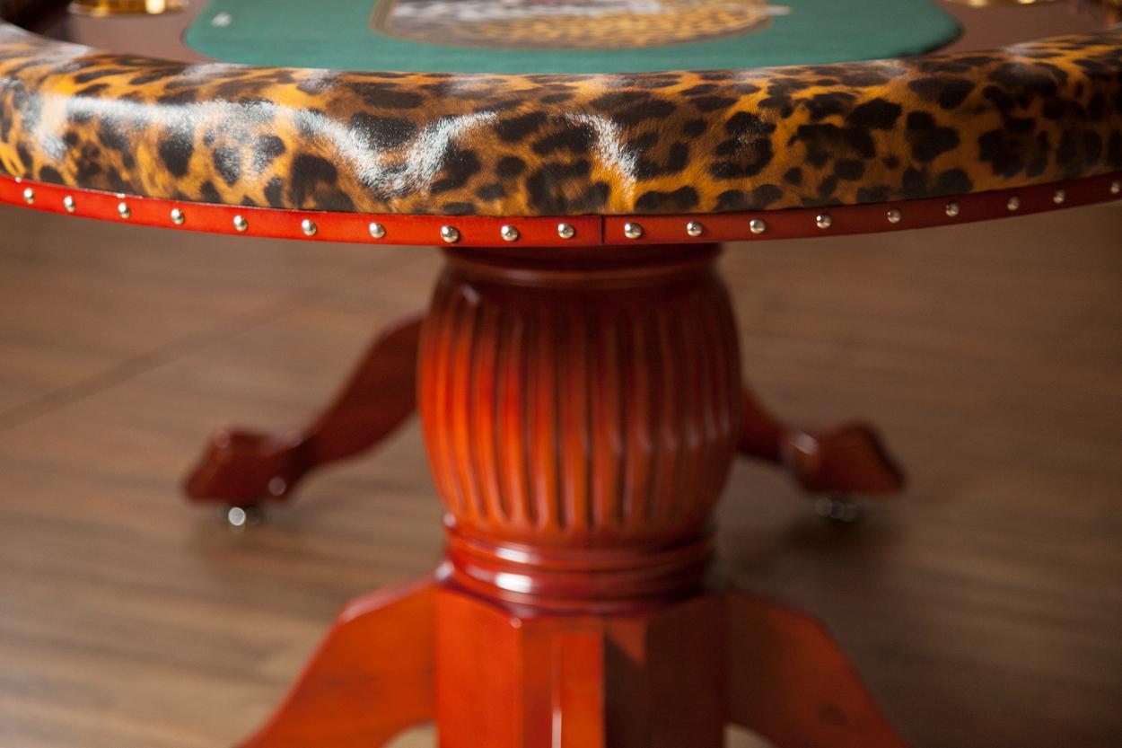 """""""Jungle Boogie"""" iShowroom Custom Rockwell Poker Game Table (4)"""