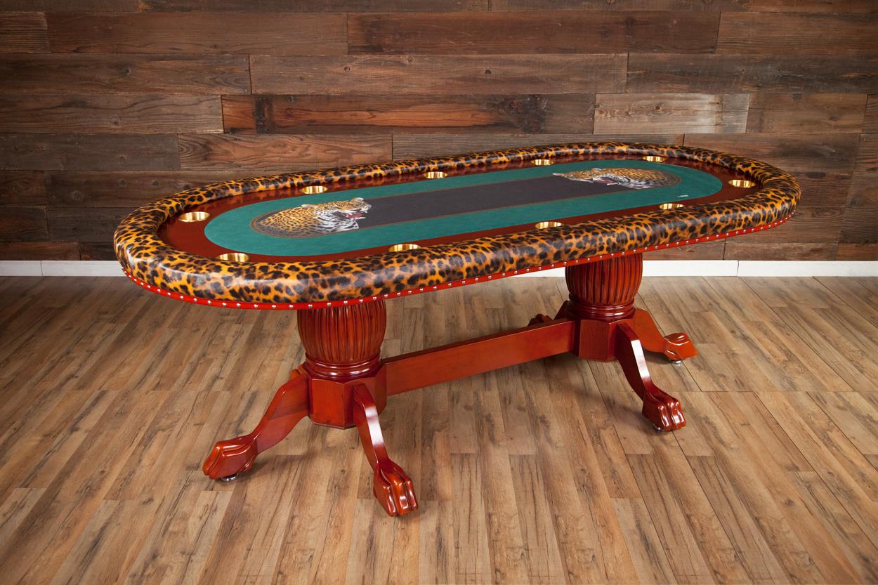 """""""Jungle Boogie"""" iShowroom Custom Rockwell Poker Game Table"""