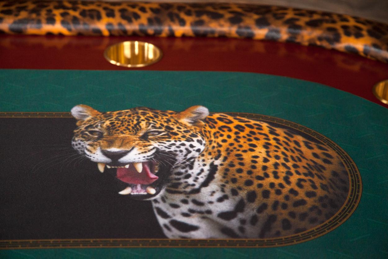 """""""Jungle Boogie"""" iShowroom Custom Rockwell Poker Game Table (1)"""