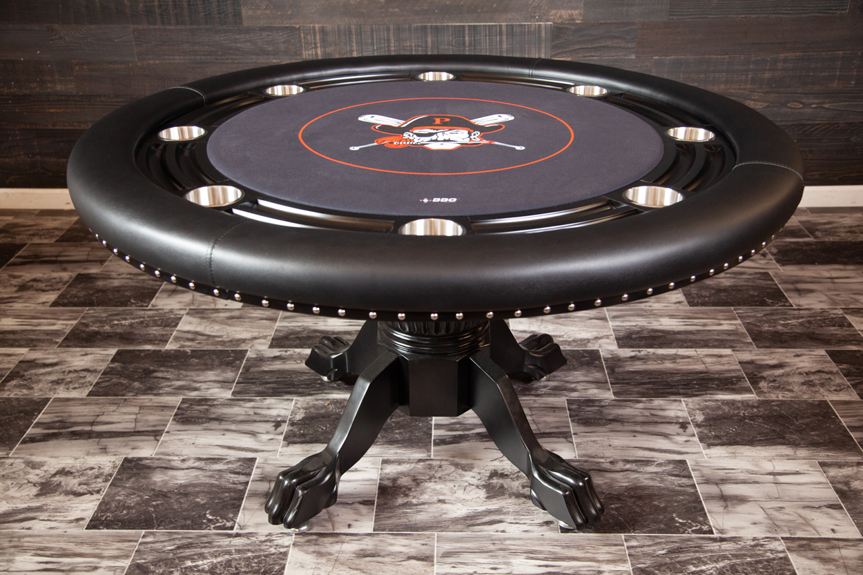 The Nighthawk Poker Table with Black Chip Holder Thunmbnail