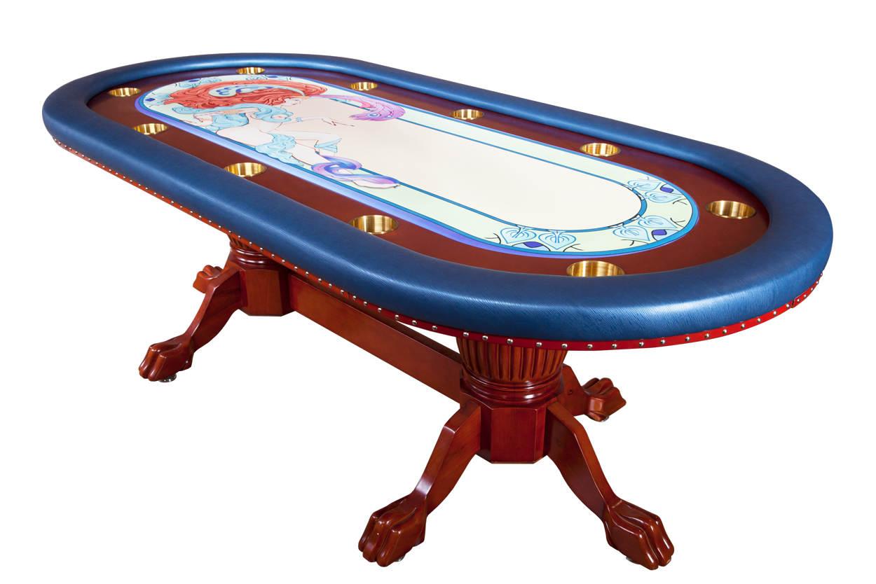 """Casino De Paris"" iShowroom Custom Rockwell Poker Game Table W/ ""Casino De Paris"" 500 Pc. Deluxe Package"