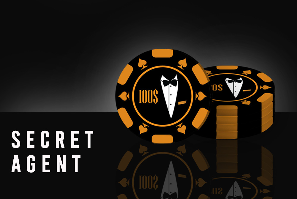"""Secret Agent"" Poker Chipset"