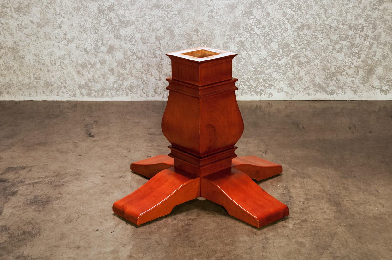 Melvin Pedestal Leg Upgrade-Mahogany (1)