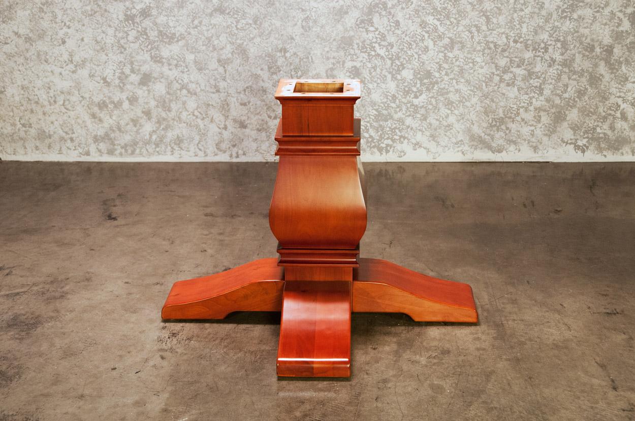 Melvin Pedestal Leg Upgrade-Mahogany (2)