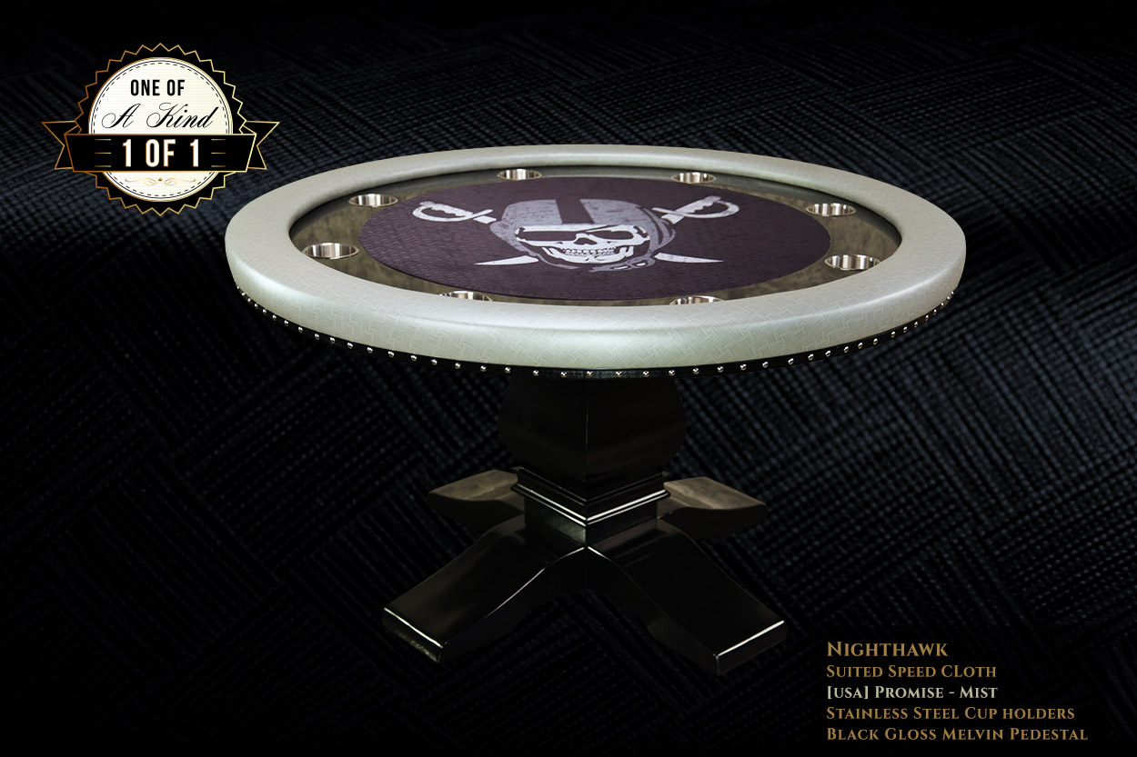 iShowroom Custom Mist Nighthawk Poker Table