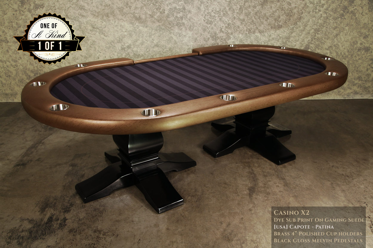 iShowroom Custom Capote Casino X2 Poker Table