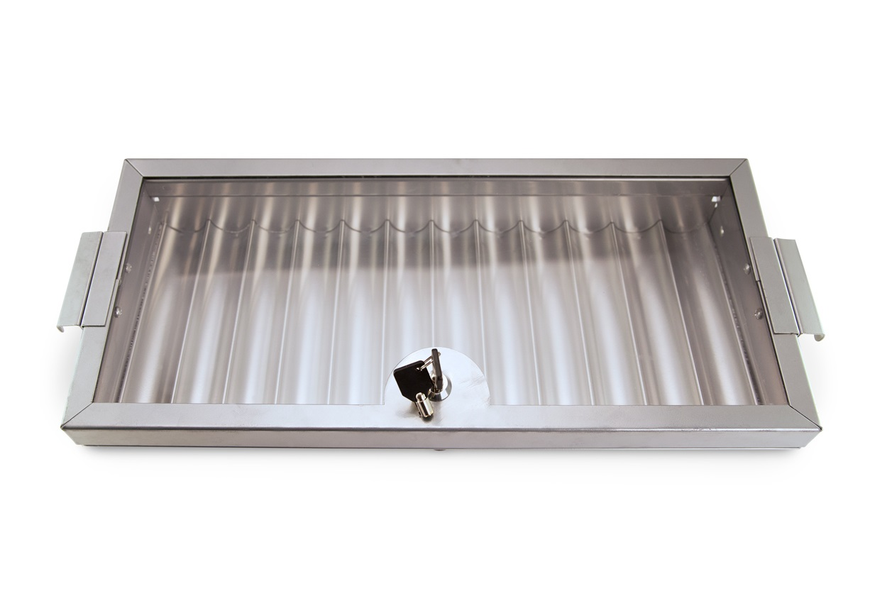 720PC Aluminum Dealer Tray with Glass Style Lock Top