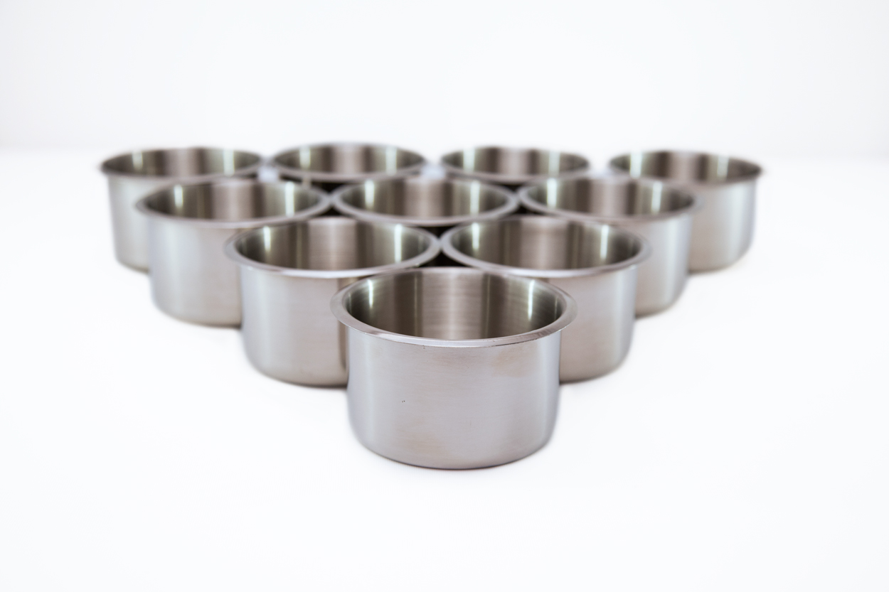 4in Stainless Steel Cupholders x 10