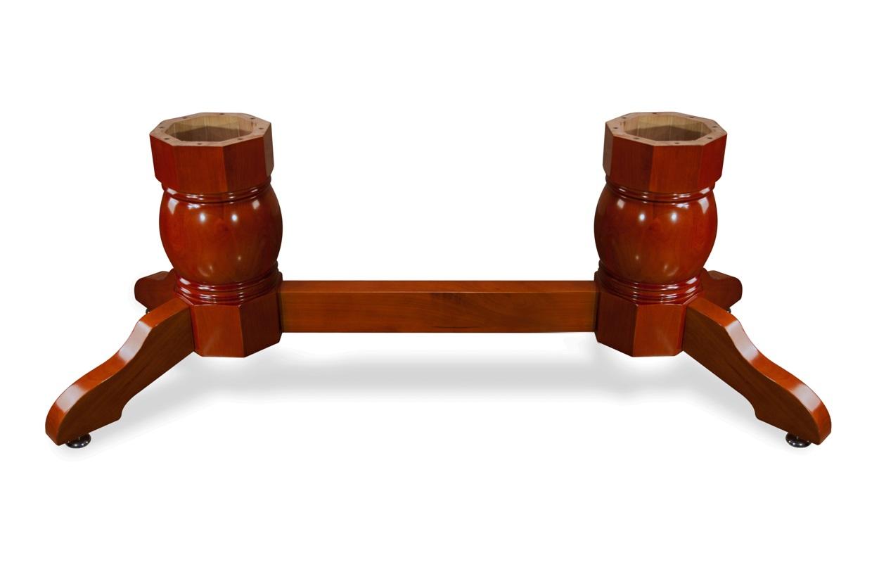 Napa Pedestal Leg Set with Beam-Mahogany