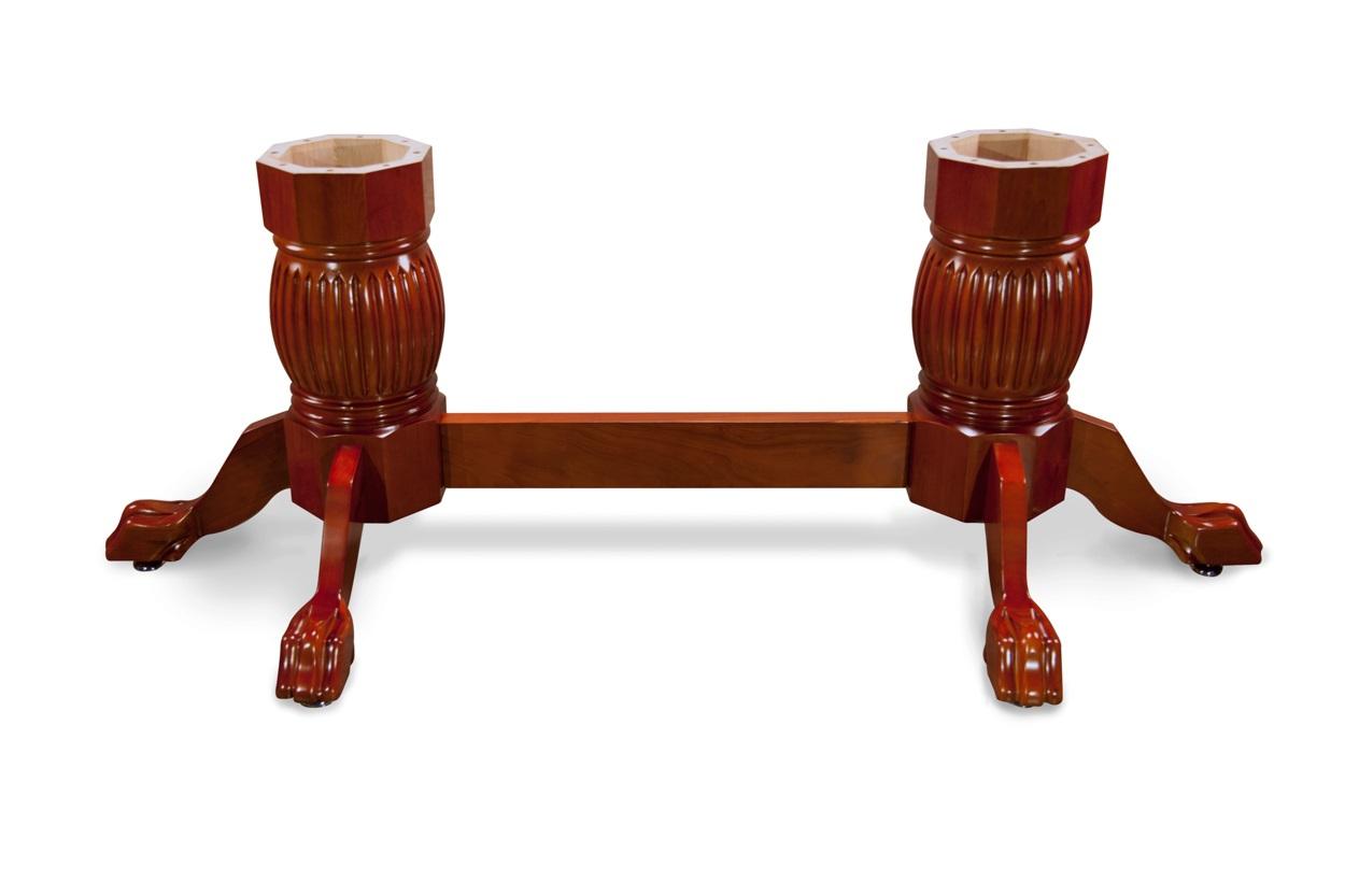 Heritage Pedestal Leg Set with Beam-Mahogany