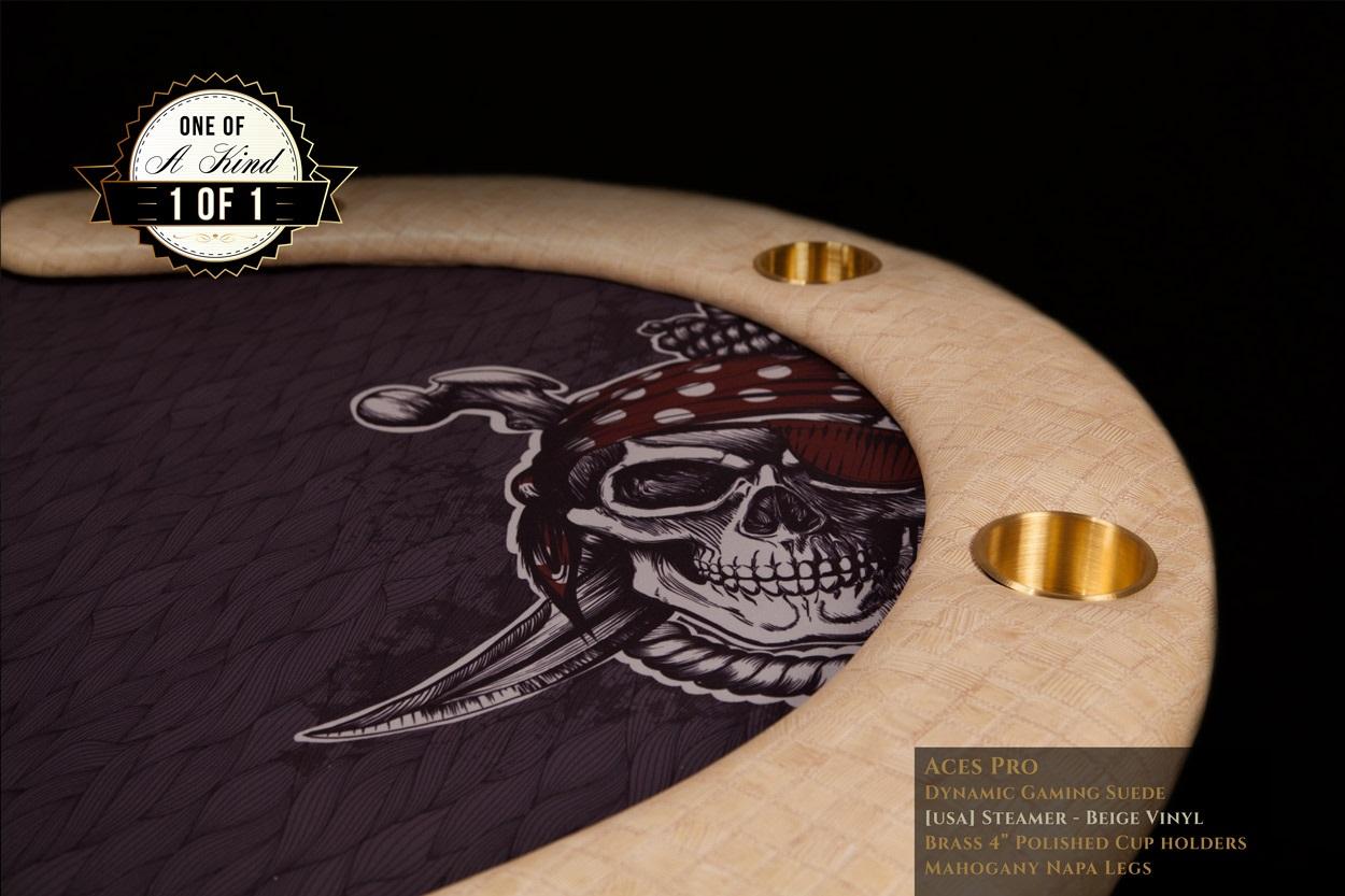 iShowroom Custom Steamer Beige Aces Pro Poker Table (1)