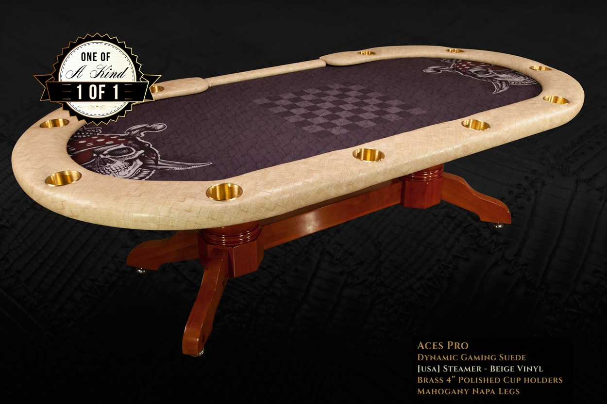 iShowroom Custom Steamer Beige Aces Pro Poker Table