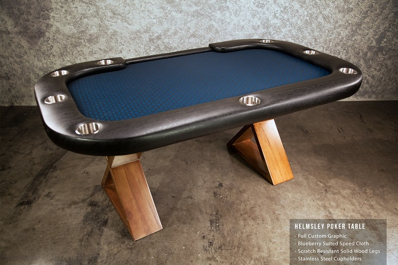 The Helmsley Poker Table with dealer cutout