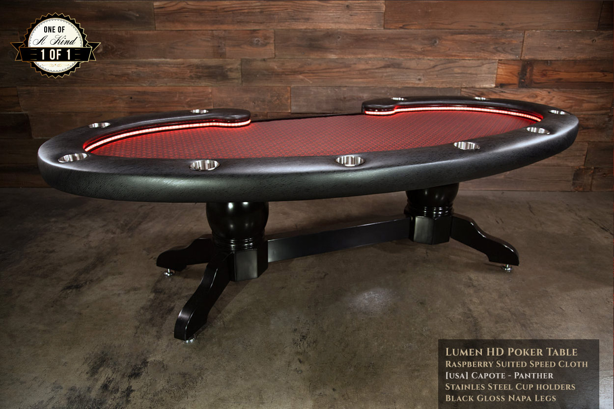 iShowroom Custom Lumen HD Poker Table Capote Panther