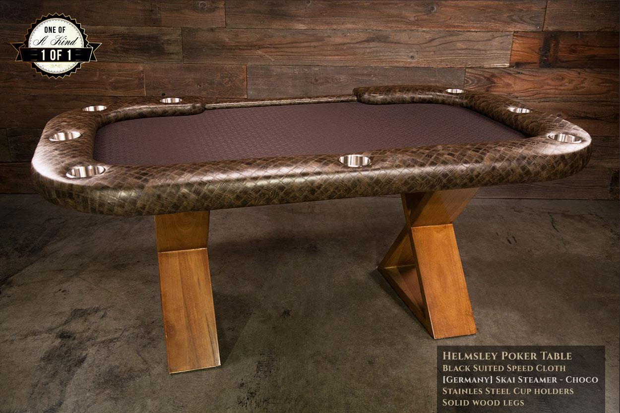iShowroom Custom Khaki Steamer Helmsley Poker Table