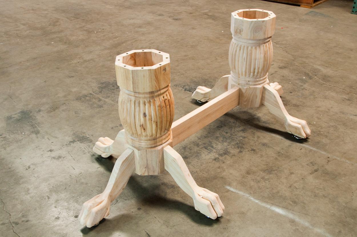 Unfinished-Heritage Poker Table Leg