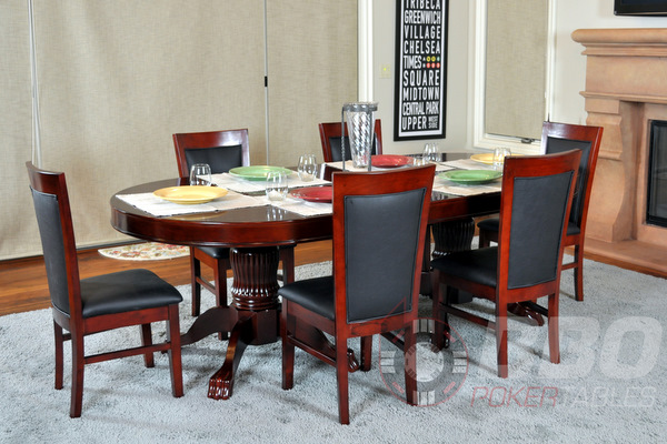 Classic Poker Table Chairs - Mahogany (1)