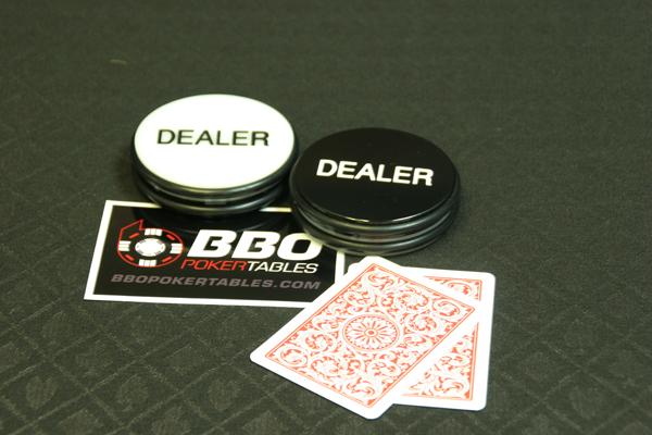 Jumbo 3 Inch Dealer Puck (white/black)