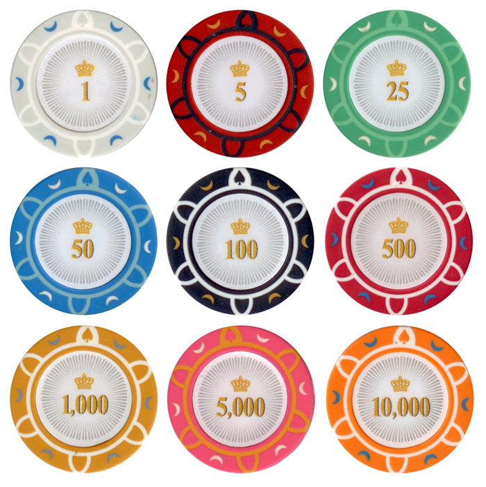 Crown 13.5g Clay Poker Chip Set – 500Pcs